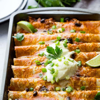 Ground Turkey Black Bean Enchiladas.
