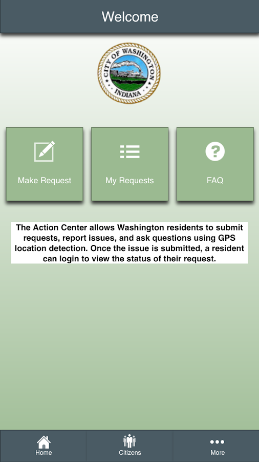 Washington, IN Action Center- screenshot