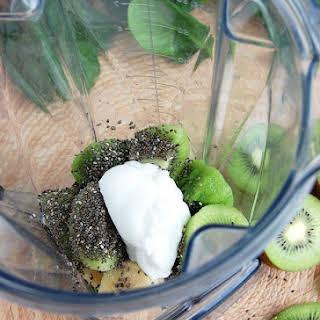 Vitamin-Rich Spinach Kiwi Smoothie.