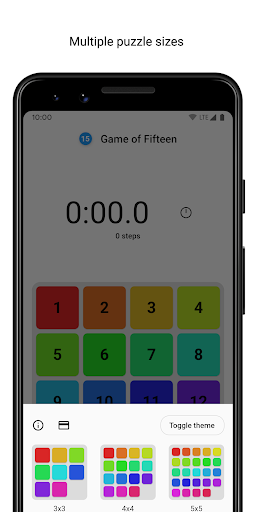 Game of Fifteen: 15-puzzle with Flutter screenshot 2
