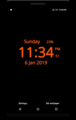 Digital Clock Live Wallpaper screenshots 3