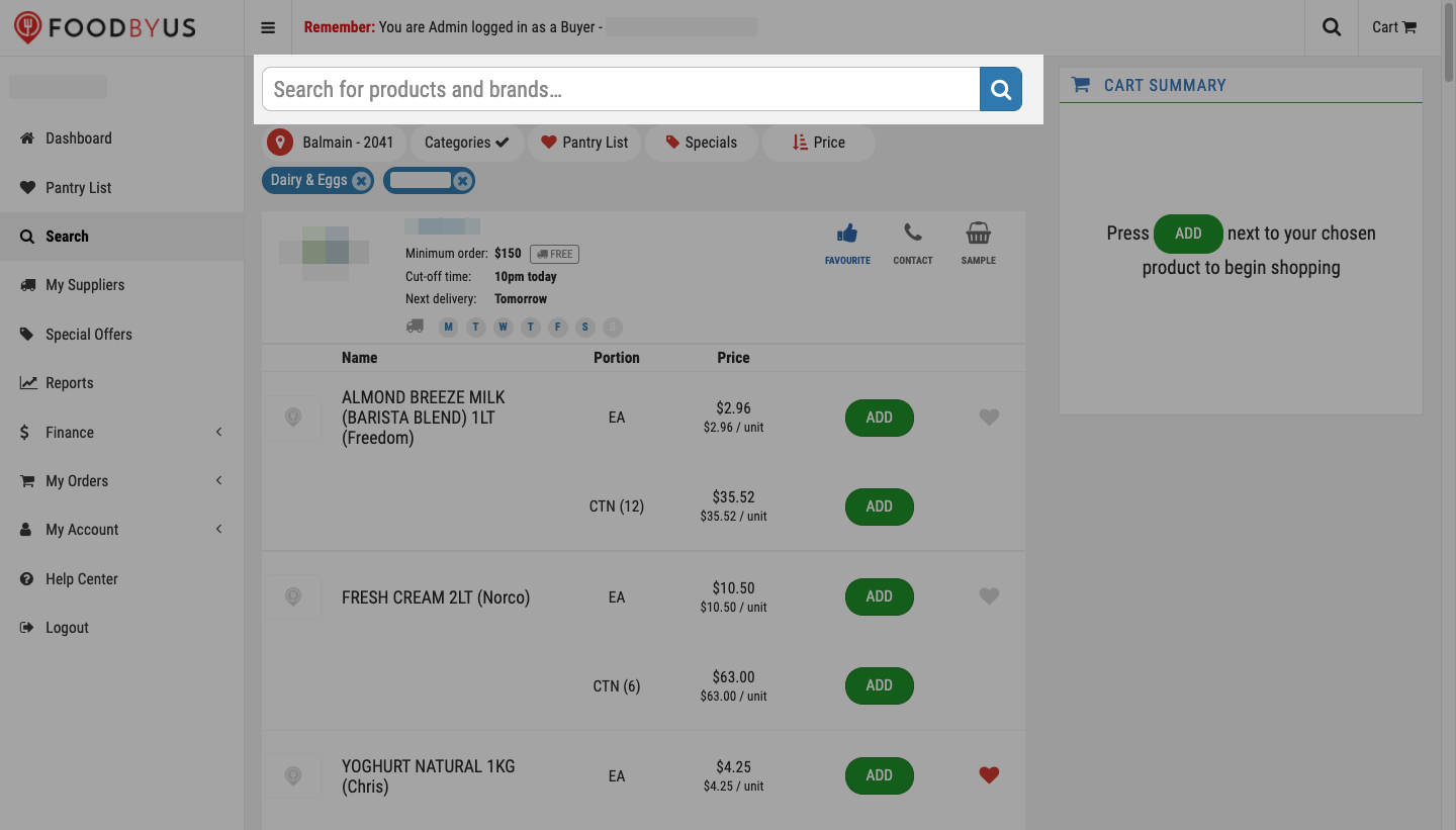 FoodByUs_dashboard_search_marketplace_product_category_search_for_items