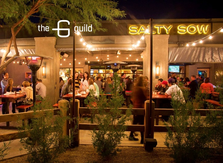 The patio at Salty Sow.