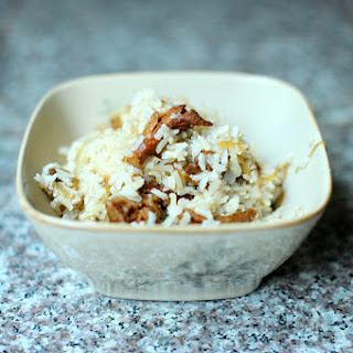 Brown Rice with Chanterelles and Caramelized Onions
