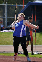 Photo: Matt Larson 1st 179-7: 5th All-Time ECC new rule javelin performer