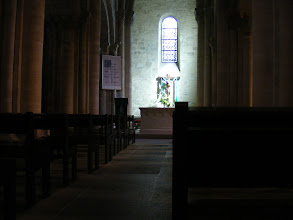Photo: The church interior is simple and serene.