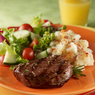Steak & Cauliflower Mashed Potatoes