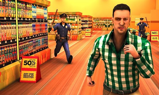 Supermarket Escape Dash Imagen do Jogo