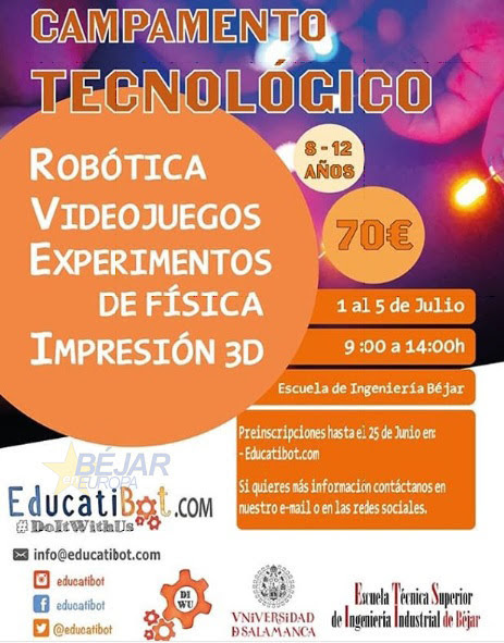Cartel del Campamento educatibot