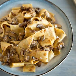 Hearty Mushroom Pasta.