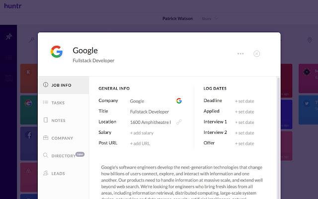 Huntr: Job Search Tracker - Chrome Web Store