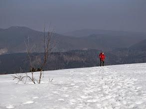 Photo: 17.Pod szczytem Małego Jasła. Po lewej Łopiennik (1069 m).