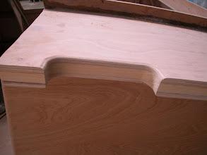 Photo: Preparation for grab rail on top of deckpod