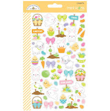 Doodlebug Mini Cardstock Stickers 2/Pkg - Hoppy Easter