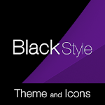 Black Purple Premium Theme Icon