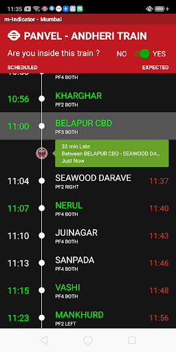 m-Indicator- Mumbai - Live Train Position screenshot 1