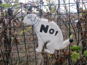Photo: nog een waarschuwing maar de hondenpoep blijft