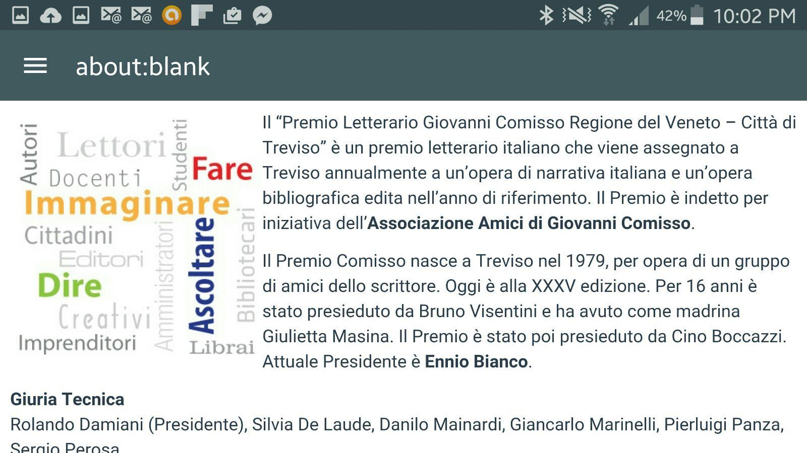 Premio Comisso- screenshot