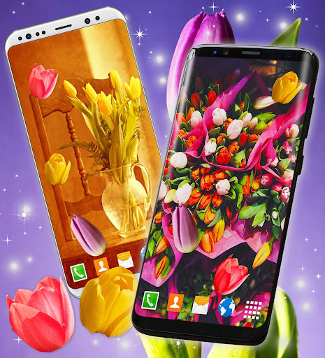 Tulip Magic Flowers ud83cudf37 Live Wallpapers HD Themes 5.2.3 screenshots 2