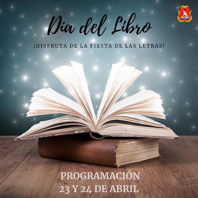 Cartel con el que Dalías anuncia la celebración del Día del Libro.