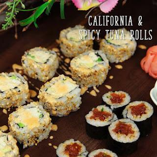 Spicy Tuna & California Rolls Recipe