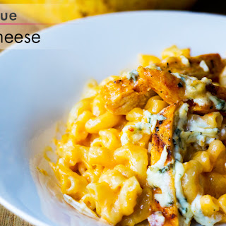 Buffalo and Blue Chicken Mac and Cheese.