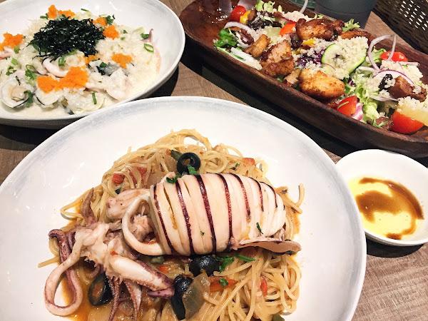 Cin Cin Osteria 請請義大利餐廳 整隻透抽在上麵/台北松山南京復興美食