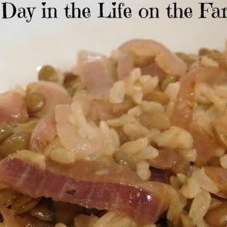 Mujaddara, Majadara, Majadra, Mejadra....Lentils and Rice #SundaySupper