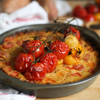 Roasted Pepper and Tomato Vegan Quiche with Sweet Potato Crust Recipe