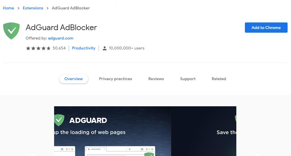 Adguard Chrome Store - Best Free Ad Blocker Software