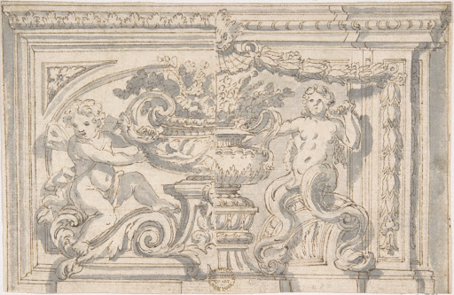 Alternate Panel Designs with Urn and Putto