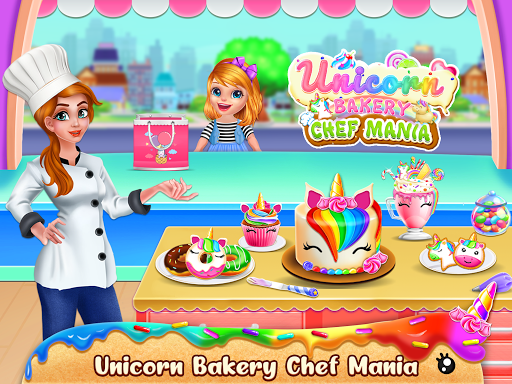 Unicorn Food Bakery Mania: Baking Games android2mod screenshots 1