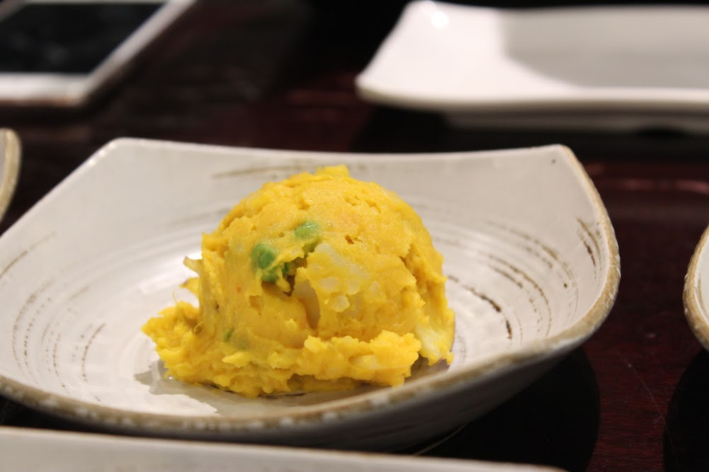 Potato Side Dish in the shape of ice cream at Seoul House in Thornhill (서울관 반찬 스틸스 토론토)