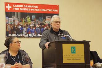 Photo: Karen Lewis and Wisconsin State AFL-CIO President Emeritus David Newby