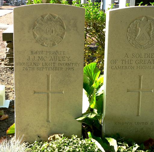 James McAulay grave