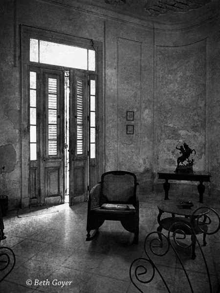 """Josie's Sitting Room, Havana, Cuba"" by Beth Goyer Digital Photograph"