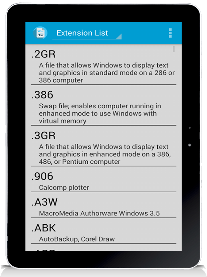 File extensions - Android Apps on Google Play
