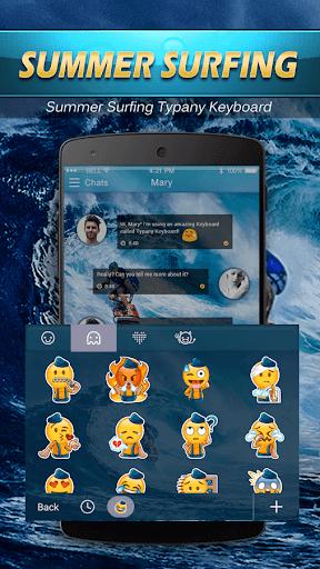 mod Hawaii Summer Surf Emoji Theme 2.5 screenshots 4