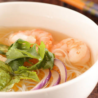 Chicken and Shrimp Pho ~ Vietnamese Chicken Noodle Soup.