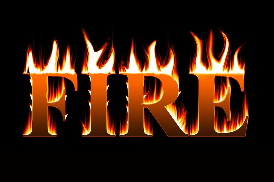 FIRE by Malay Maity - Typography Words ( word, typography, letters, fire, design )