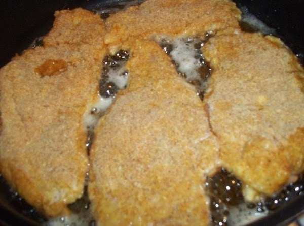 Now, add the cutlets to the skillet and fry over medium - high heat....