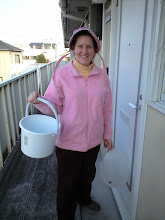Photo: Cindy Charlton prepares to head out to gather water from the canal. *Photo credit: Cindy Charlton*