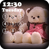 Teddy Bear Pin Screen Lock
