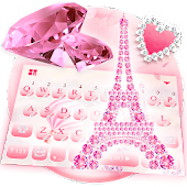 Pink Diamond Paris Keyboard Theme