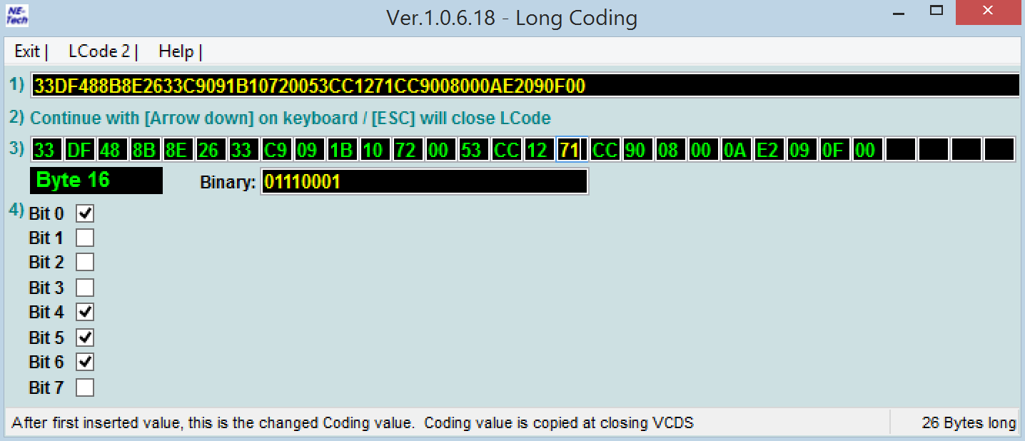 The Audi A1 Forum • View topic - VCDS Coding: HHA question