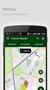 Chechen Republic Map offline - náhled