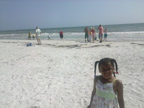 Photo: after the sanctuary, we went to the shore -- this is the Gulf of Mexico. We were not prepared for this, so not in swim gear.