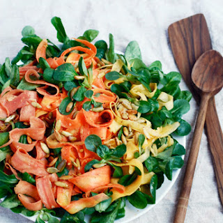 Rainbow Carrot Salad with Mâche and Toasted Pepitas