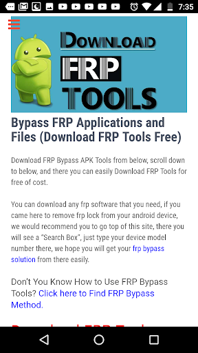 Bypass FRP Lock hack tool