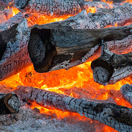by Patti Cooper - Artistic Objects Other Objects ( wood, bon fire, fire,  )